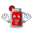 crazy fresh tomato juice isolated on mascot vector image vector image