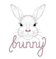 cute bunny portrait Hand drawn for t-shirt print vector image vector image
