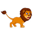 cute lion cartoon isolated on white background vector image