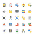 data management flat icons vector image vector image