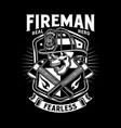 fireman skull with crossed axes vector image vector image