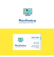 flat computer presentation logo and visiting card vector image vector image