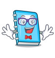 geek education character cartoon style vector image