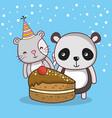 happy birthday card cartoons vector image vector image
