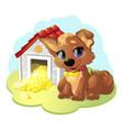 happy cartoon puppy vector image