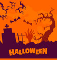 happy halloween concept background flat style vector image