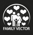 happy love family logo design - parents with kid vector image vector image