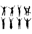 Happy silhouettes vector image vector image