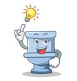 have an idea toilet character cartoon style vector image vector image