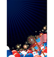 Independence Day Design background vector image vector image
