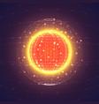 interstellar space polygonal background vector image vector image