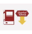 Isolated label of ebook design vector image vector image