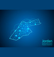 jordan map with nodes linked by lines concept of vector image vector image