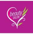 logo beauty salon vector image vector image