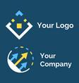 logotype symbol for company logo icon vector image vector image