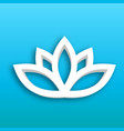 lotus flower 3d icon on blue gradient background vector image vector image