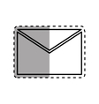 Mail letter symbol vector image vector image