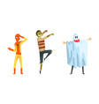 man character dressed in carnival costume vector image vector image