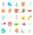 man health icons set cartoon style vector image vector image
