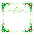merry christmas and happy new year border frame vector image vector image