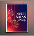 merry christmas party poster flyer invitation vector image vector image
