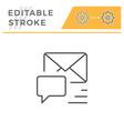message delivery editable stroke line icon vector image