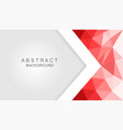 modern abstract red and white background vector image