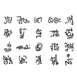 Occult symbols set vector image vector image