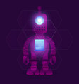 research robot science and technology background vector image