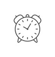retro alarm line outline icon vector image