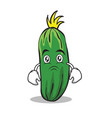 sad cucumber character cartoon collection vector image vector image