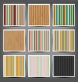 seamless wallpaper set vector image