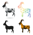 Set goats abstract isolated vector image