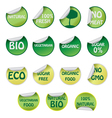 Set of ecology labels vector image