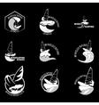 Set surfing logo vector image vector image