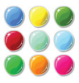 shiny colorful buttons with glass surface effect vector image