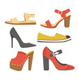 shoes and sandals women spring or summer footwear vector image