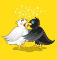 Small Cute Evening Bird vector image vector image