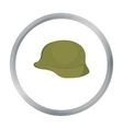 Soldier helmet military icon cartoon Single vector image vector image