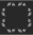 square shape blank frame monogram mockup curved vector image