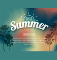 summer time background of a glowing summer time vector image
