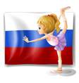 The flag of Russia with a ballet dancer vector image vector image