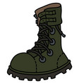 the khaki heavy military boot vector image vector image