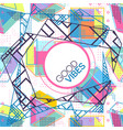trendy card memphis style design abstract vector image vector image
