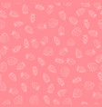 white strawberry berries seamless pattern on a vector image vector image