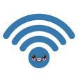 wifi internet symbol kawaii cute cartoon vector image