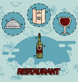 restaurant flat concept icons vector image