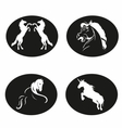 Black and white Horse logo vector image
