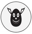 monochrome monster character vector image