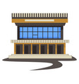 1980s style architecture vintage building or vector image vector image